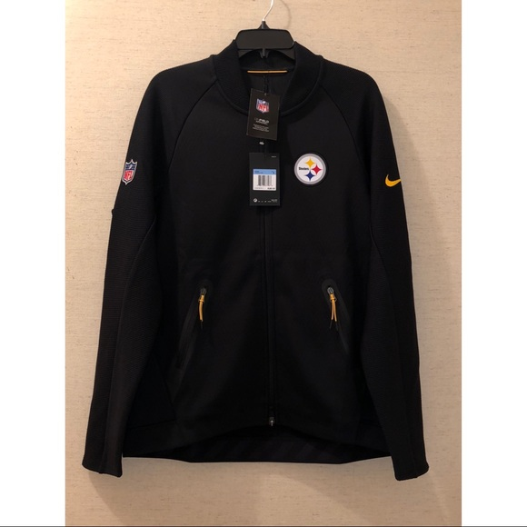 best sneakers cad24 1d51d Nike NFL Steelers Sideline Coaches FullZip Jacket NWT